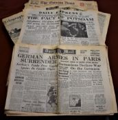 A collection of 1936-45 Newspapers: Evening Times, Daily Mail etc., covering the abdication of