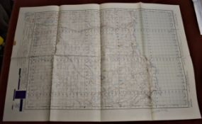 Scotland 'Thirso Reay' War Office Edition, ordnance survey map sheet 11, published in 1950 folded