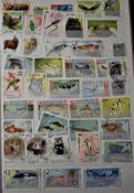 Assorted Thematic Birds and Animals - large stockbook full (1500+) useful stock.