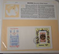 Great Britain - Royalty Collection 1986 Royal Wedding in an album with u/m mint, First Day Covers