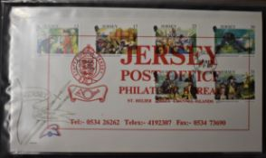 Jersey 1987-1993 - Good range of First Day Covers including higher values (50)