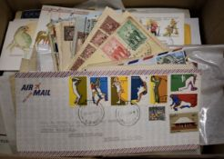 Australia - An accumulation of cover with a good range of First Day Covers, also Aerogrammes, odd