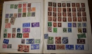 Assorted World Collection to 1950 in an old Triumph Album & 1d reds u/m etc. (100's)