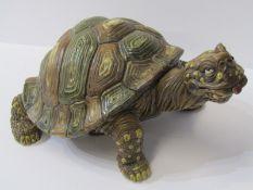 "ANDREW HULL, signed stoneware ""Comical Tortoise"", 10"" length"