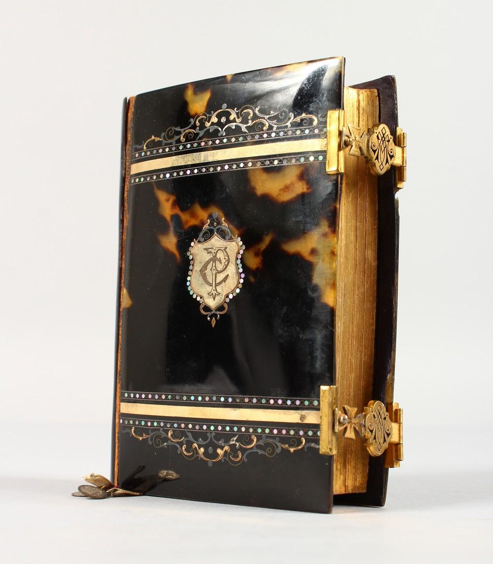 "Lot 1590 - A TORTOISESHELL GOLD INLAID BOWL ""DE PRIERES"" 1888."
