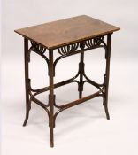 IN THE MANNER OF HOFFMAN, A BENTWOOD RECTANGULAR OCCASIONAL TABLE. 1ft 11ins long x 1ft 2.5ins