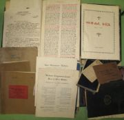 [MISSIONARIES, etc.] q. of ephemera, ms. material, late 19th & (mostly 20th) c., some China and
