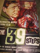 [FILM POSTER] The 39 Steps, printed by Berry, England, folds, 40 x 27 inches.