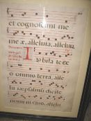 ANTIPHONAL LEAF, large, 26 x 18 inches on vellum, 17th c., f. & g.