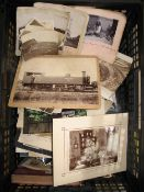 PHOTOGRAPHY. Box of miscellaneous photographs incl. India, 19th & 20th century.