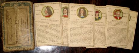 "CARD GAME. ""Historical cards exhibiting the History of England, printed for John Wallis, No. 16"