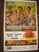[FILM POSTER] The 7th Dawn, USA printing, folds, 41 x 27 inches.