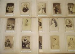 PHOTOGRAPHY / ROYALTY. 12 large album pages containing over 70 cartes-de-visite of British and