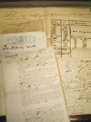 SLAVERY / CUBA. Group of manuscript documents recording the sale and transport of slaves /