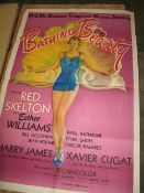 [FILM POSTER] Bathing Beauty, USA copyright 1944, folds, 41 x 27 inches (some tears and splits).