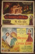 [FILM POSTERS] 2 x cabinet posters, small, each 11 x 14 inches (2).