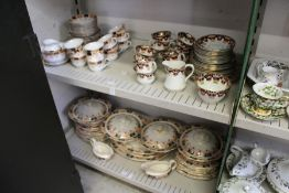 A quantity of late 19th century tea and dinner ware, decorated in Imari style.