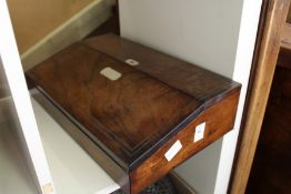 A Victorian rosewood writing slope.