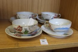 Japanese egg shell cups and saucers.