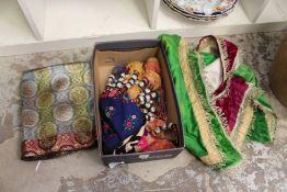 Various eastern textiles.