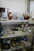 large quantity of household and decorative china and glass etc.