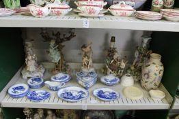 A quantity of decorative china.