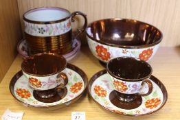 A quantity of lustre ware.