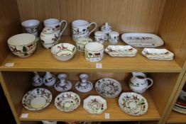 A quantity of Coalport Hunting Scene china and other similar makes.