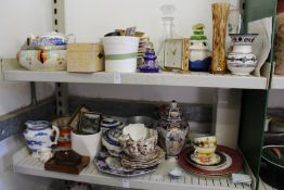 A quantity of household china and glass.