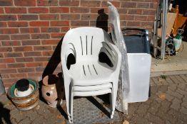 Garden chairs, pots etc.