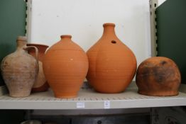 Terracotta urns etc.