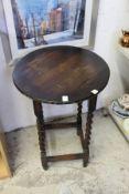 An oak table.