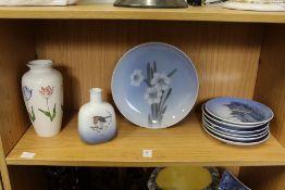 Copenhagen and other decorative china.