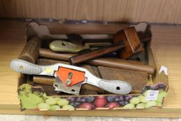 A small box of woodworking tools.