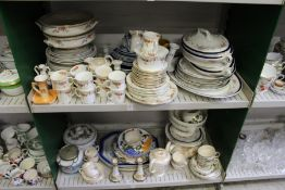 A quantity of part tea services, dinner ware and other decorative china.