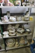 A large quantity of decorative and household china.