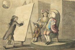 "After Bunbury, a set of four hand coloured prints, 10"" x 14"" (4)."