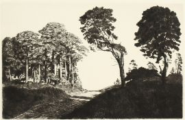 """Alfred R. Blundell. 'A Breckland Road', Etching, Signed in Pencil, Unframed, 7"""" x 10.5"""". And an"""