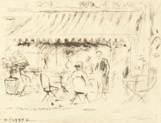 Henry Rayner - 'The Old Lombard Caf Cheyne Walk, Chelsea', Etching, Signed & Inscribed in Pencil.