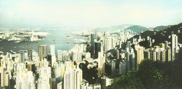 Ben Johnson (B. 1946) British, 'Hong Kong panorama 1997', signed, inscribed, dated and numbered 1/