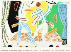 'Two Dancers' A David Hockney poster for 'Hockney Paints the Stage' at the Walker Art Centre 1983/