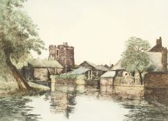 "William Tatton Winter (1855-1928). 'Sudbury Watch Tower, Canterbury', Etching, Signed in Pencil. 10"""
