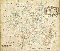 """Robert Morden, 'A Map of Worcestershire', 14.5"""" x 17""""."""