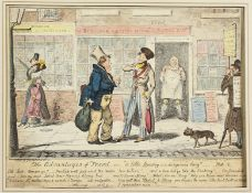 A Cruckshank Etching 'the adventures of travel or a little learning is a dangerous thing',