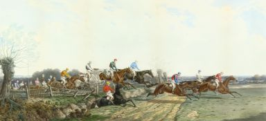 After Benjamin Herring (1830-1871) British. 'The Silks and Satins of the Turf' and 'The Silks and