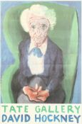 'My Mother, Bridlington', A David Hockney poster for the Tate Gallery 1988 Exhibition, signed in