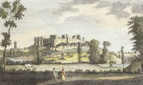 """'A Perspective View of Ludlow Castle in Shropshire'. A Coloured Print, Unframed, 6"""" x 10.5"""". With"""
