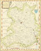 "Alexander Hogg, 'An 18th Century Map of Shropshire', 8"" x 6.5""."