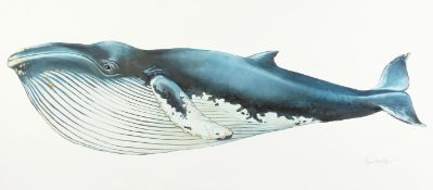 """Peter Arnold 'Save the Humpback Whale', artist's proof, Lambda print on canvas, 31.5""""x 70""""."""