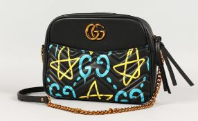 A GUCCI GHOST SHOULDER BAG with code number, GUCCI dust bag, box and docs.